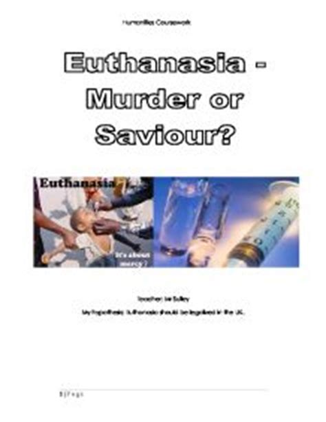 Sample thesis about euthanasia